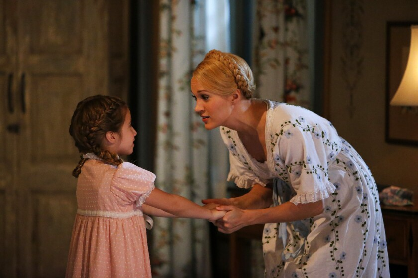 """Carrie Underwood and Peyton Ella in """"The Sound of Music Live."""""""