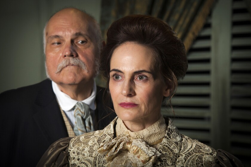 """Mike McShane and Deborah Puette costar in Lillian Hellman's classic drama """"The Little Foxes"""" at Antaeus Theatre Company."""