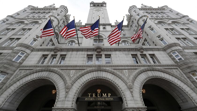 President Trump's Washington, D.C., hotel is at the center of the emoluments case.