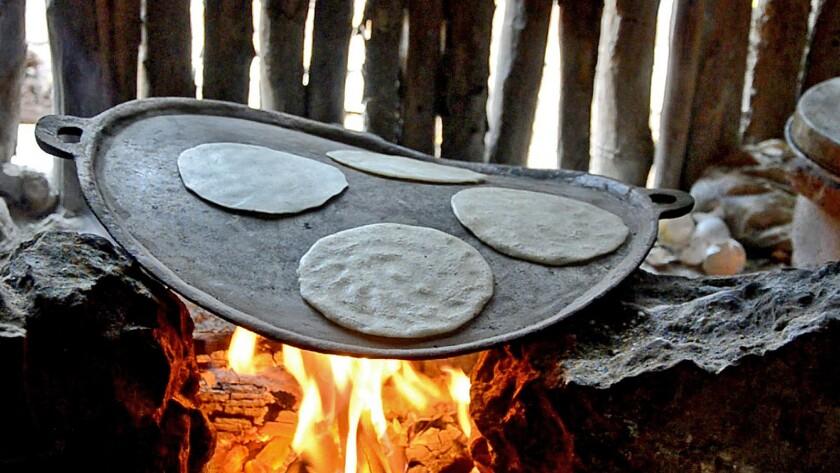 A stock photo of fresh corn tortillas.