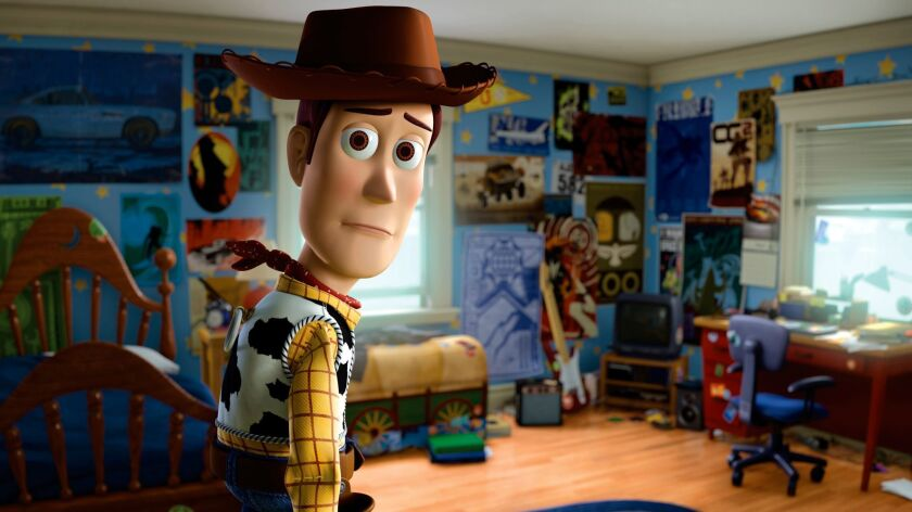 """Woody in a scene from the movie """"Toy Story 3."""""""