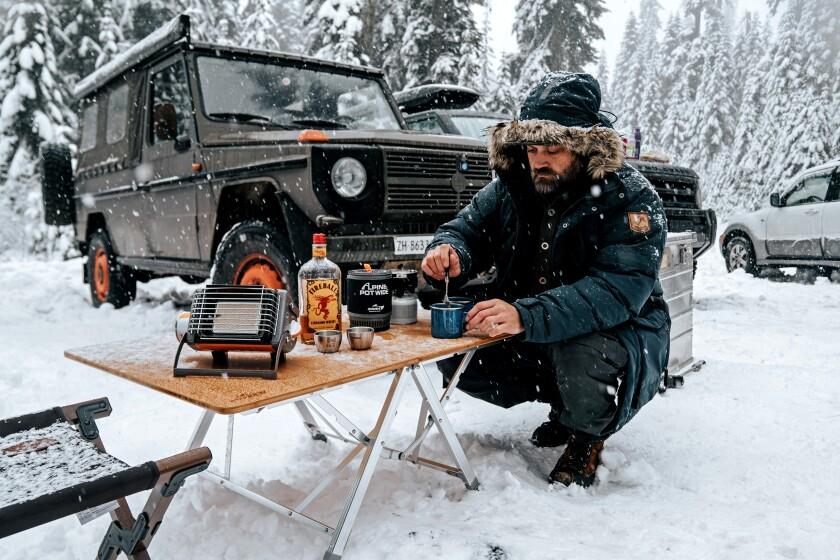 Josh Ashcroft during an overlanding trip to Gifford Pinchot National Forest in 2019.