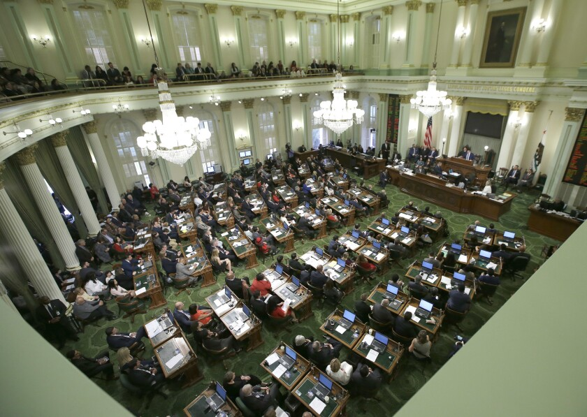 Members of the California Assembly are among 132 elected state officials who won't take pay cuts amid the coronavirus crisis.