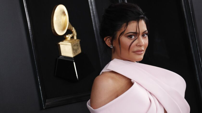 LOS ANGELES, CA - February 10, 2019 Kylie Jenner during the arrivals at the 61st GRAMMY Awards at S