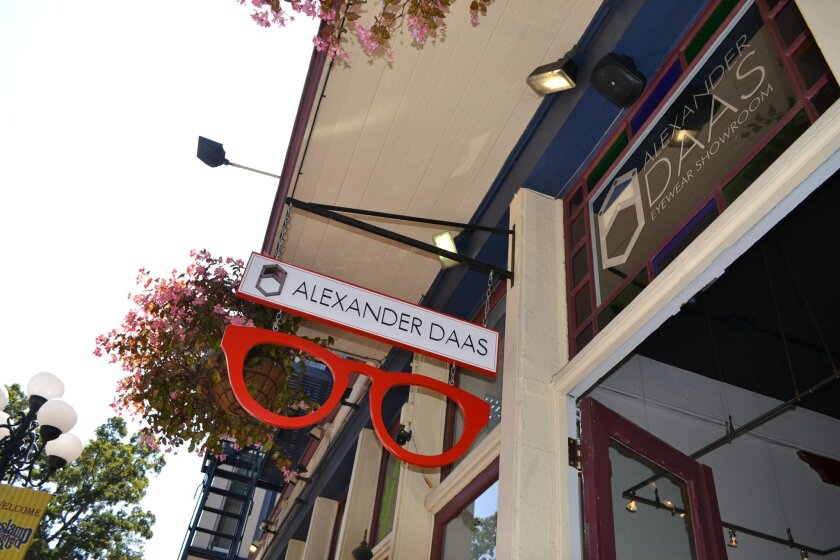 Luxury eyewear designer Alexander Daas opened a new showroom in San Diego's Gaslamp Quarter this month.