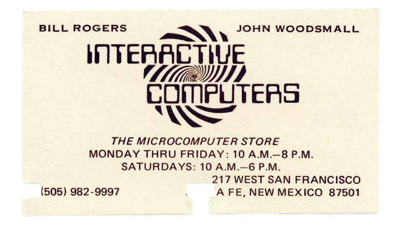 A page from Los Alamos Rolodex