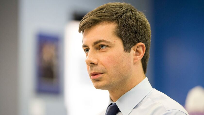 South Bend, Ind., Mayor Pete Buttigieg, seen as an up-and-coming Democrat, is also a candidate for party chair.