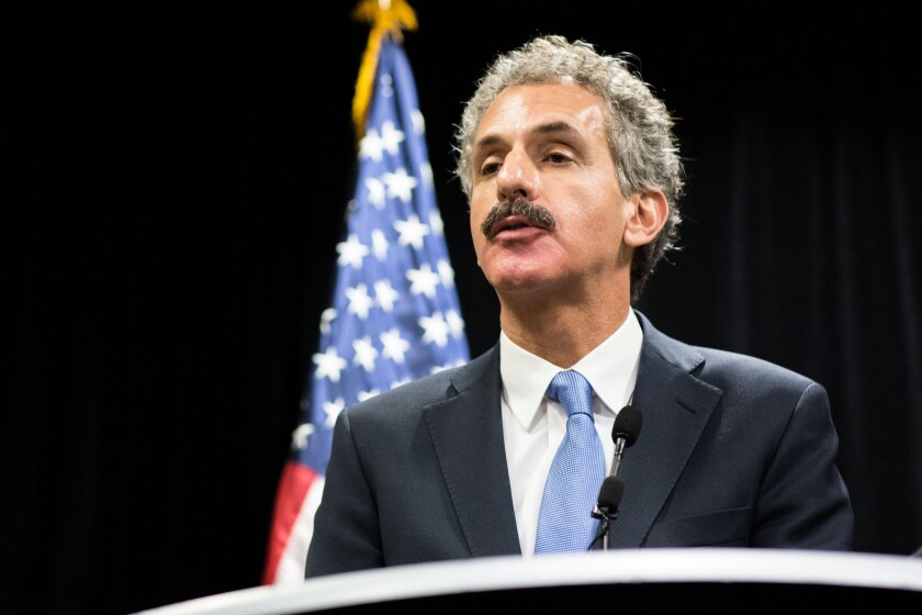 Los Angeles City Atty. Mike Feuer, seen here Oct. 21, announced Thursday the creation of a strike force to combat illegal dumping.