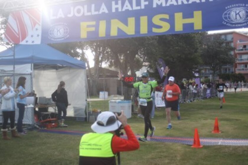The 33rd annual La Jolla Half Marathon, a fundraiser for the Kiwanis Club of La Jolla, was held April 27 with about 7,000 people registered to run. (Photo by Ashley Mackin)