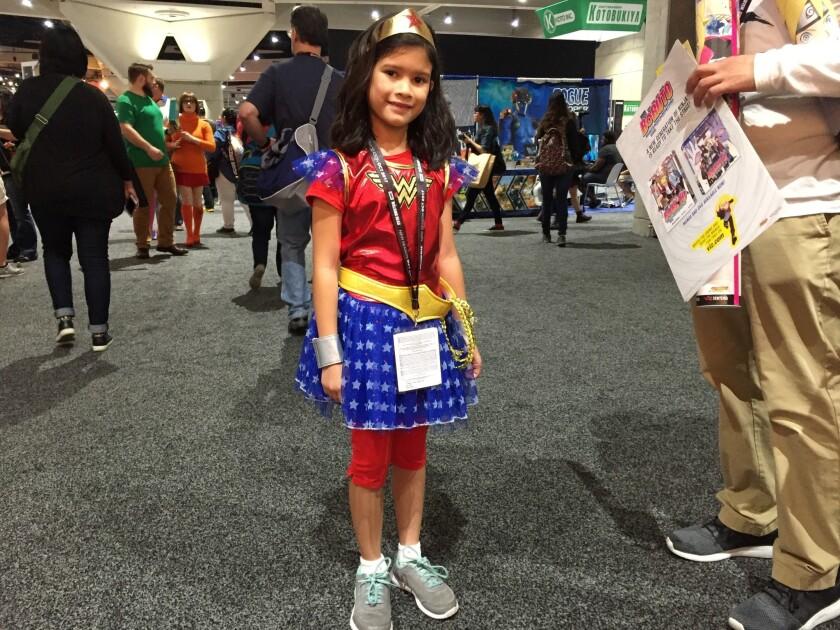 Wonder Woman Arianna Tapia. (Photo by Abby Hamblin, San Diego Union-Tribune)