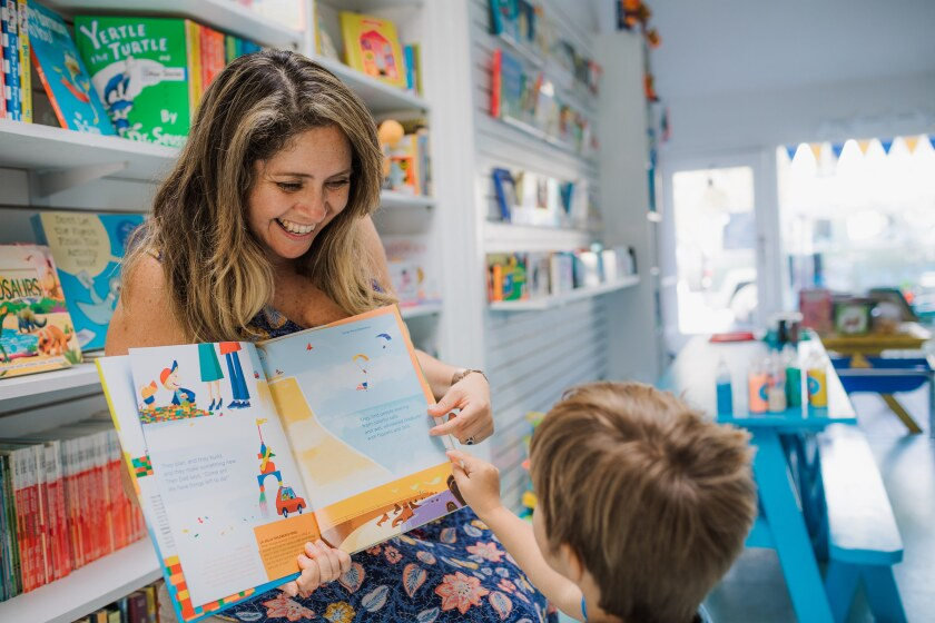 Sandcastle Tales owner Alex Rhett said she opened the bookstore to give back to the Del Mar community, where her family has roots dating back 50 years.