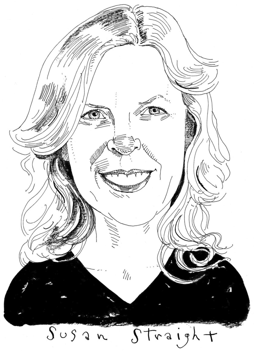 An illustration of author Susan Straight.