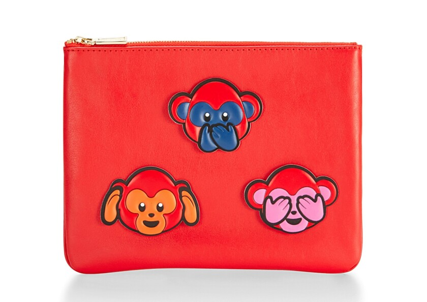 Rebecca Minkoff leather Chinese New Year pouch