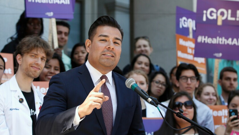 Sen. Ricardo Lara (D-Bell Gardens) wrote a bill signed by Gov. Jerry Brown on Friday that furthers efforts to provide health coverage for immigrants who are in the country illegally.