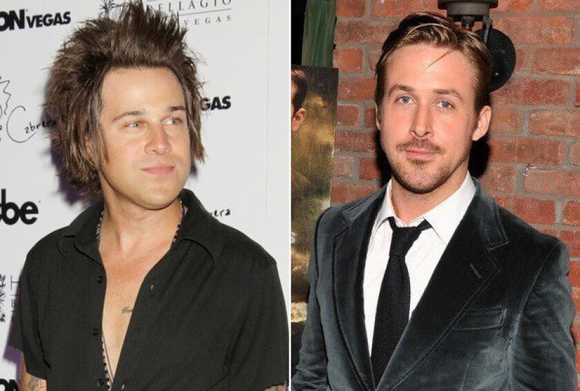 In celebrity ink news, Ryan Cabrera got a tattoo of Ryan Gosling's face on his leg.