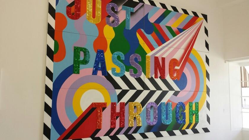"Lakwena Maciver, ""Just Passing Through,"" 2015, mixed media."