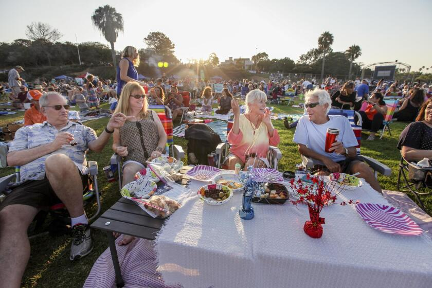 Scenes from the Point Loma Summer Concerts series featuring the Full Strength Funk band on Friday, Aug. 3, 2018 at Point Loma Park