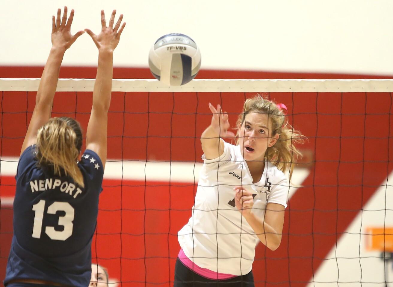 Photo Gallery: Newport Harbor vs. Laguna Beach in girls' volleyball