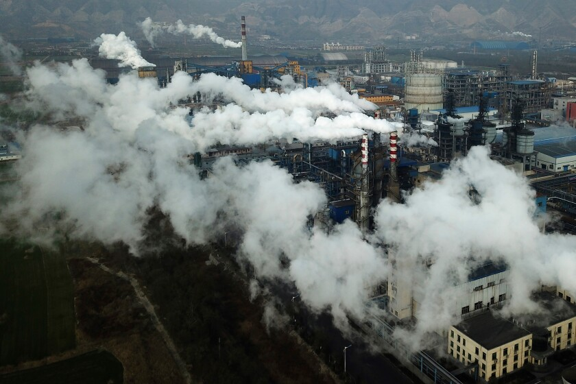 A coal-processing plant in central China's Shanxi province.