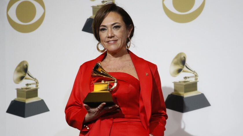 LOS ANGELES, CA - February 10, 2019 Best Latin Pop Album, Sincera, Claudia Brant backstage at the 61