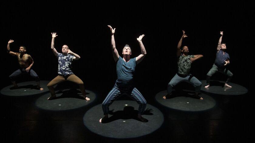 """SANTA MONICA, CA, THURSDAY, MAY 18, 2019 - The Sean Dorsey Dance Company rehearses """"Boys in Trouble,"""