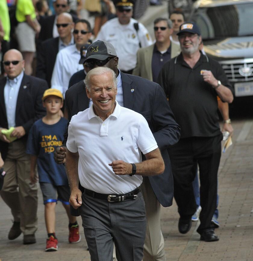 Joe Biden in Labor Day parade