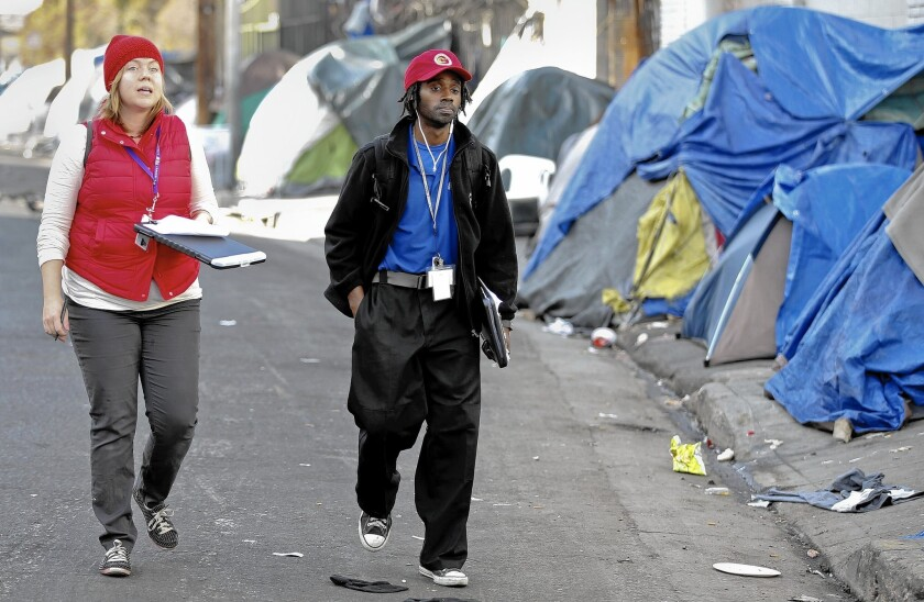Outreach workers for the homeless