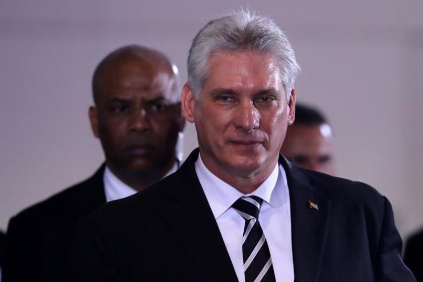 El presidente de Cuba, Miguel Díaz-Canel. EFE/Archivo