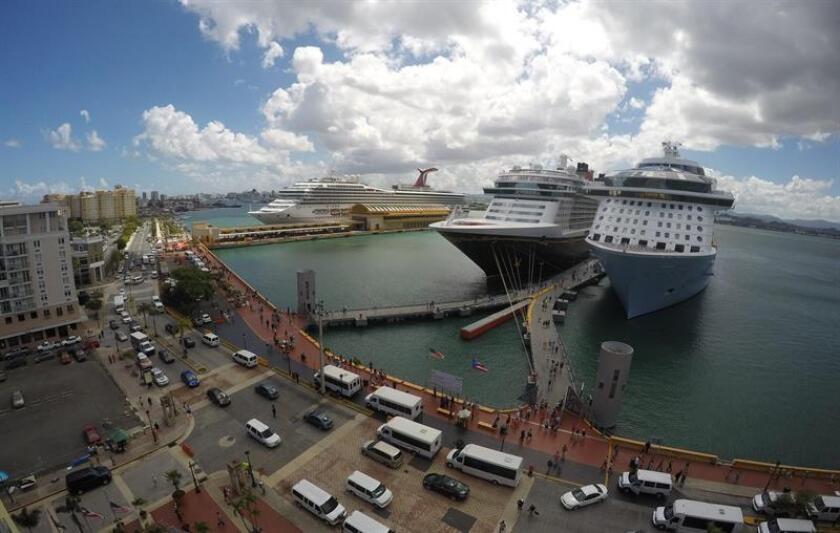 Según proyecciones de la Compañía de Turismo de Puerto Rico (CTPR), esto marca el inicio de la temporada alta de cruceros, la cual se extiende desde noviembre hasta marzo de 2019. EFE/Archivo