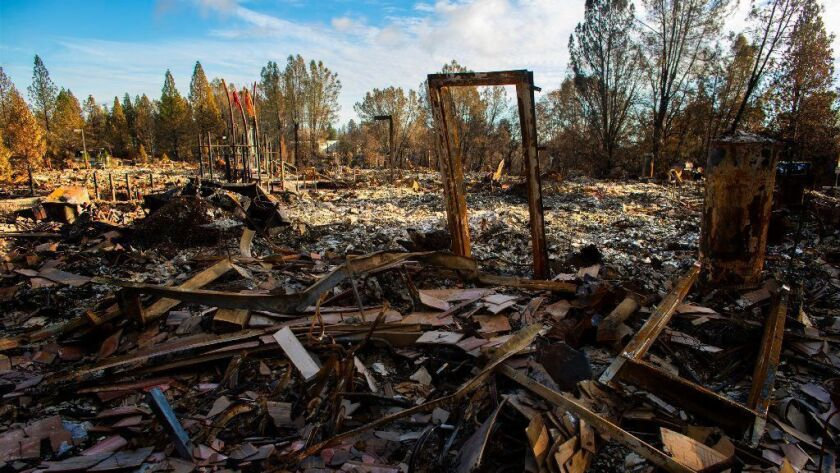 Paradise Community Village, once a thriving 36-unit apartment complex, is reduced to rubble after the Camp fire ravaged the town of Paradise.