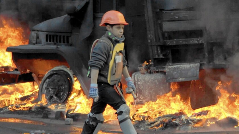 """Evgeny Afineevsky's """"Winter on Fire"""" is an on-the-street look at political unrest in Ukraine."""