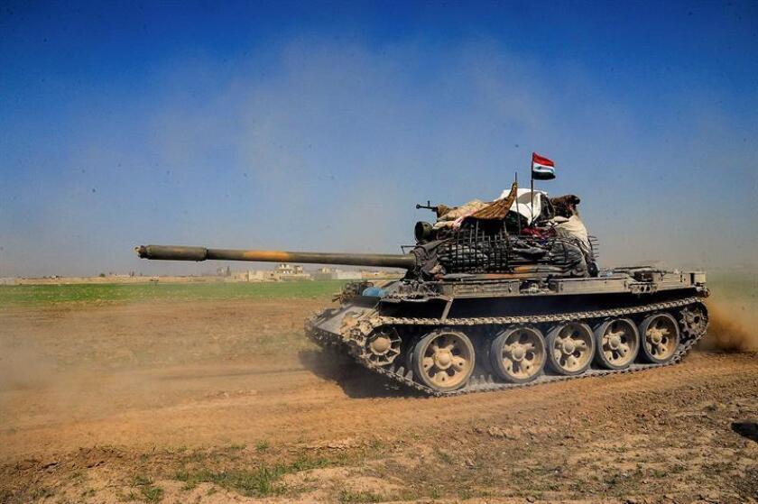 La portavoz del Departamento de Estado, Heather Nauert, acusó hoy a Rusia de aprovechar el conflicto en Siria para poner a prueba sus nuevos cazas Sukhoi SU-57, e hizo un llamamiento tanto al Kremlin como al presidente sirio, Bashar al Asad, para que respeten la tregua aprobada por la ONU. EFE/ Sana SOLO USO EDITORIAL/PROHIBIDA SU VENTA
