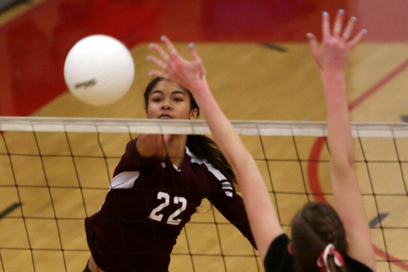 Bishop's senior Jayda Howard (shown in an earlier match) helped lead the Knights past Ramona in the Division I semifinals on Wednesday night.