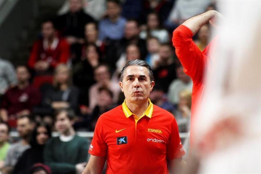 El seleccionador español, Sergio Scariolo. EFE/Archivo