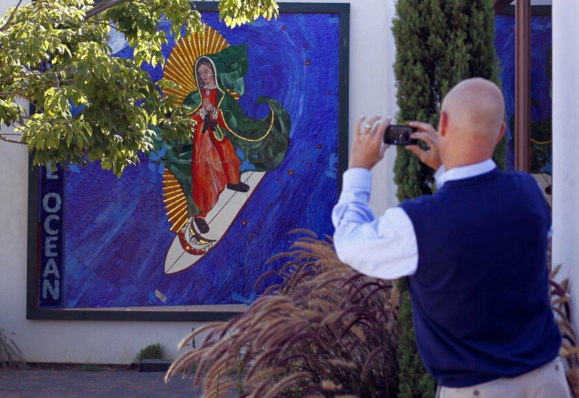The future of the Surfing Madonna mosaic in Encinitas is now in doubt.