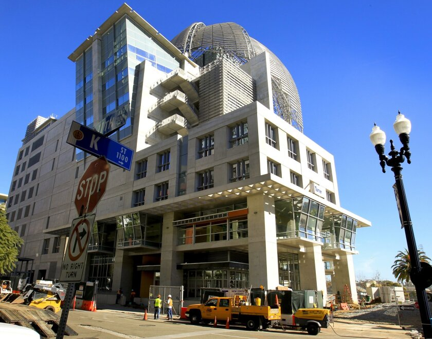 The $185 million new central library is located just east of Petco Park at Park Boulevard and J Street.