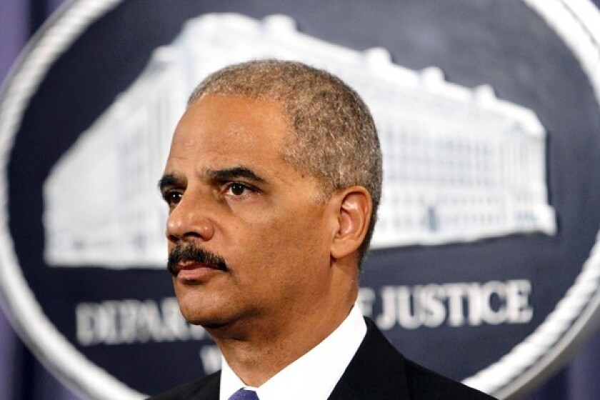 Congressional investigators say memos suggest that Atty. Gen. Eric H. Holder Jr. has hedged what he knew about gun-trafficking surveillance programs.