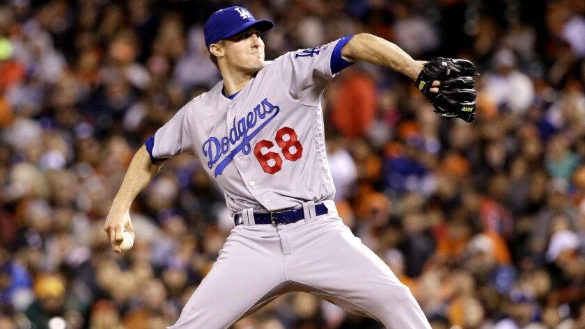 Dodgers starter Ross Stripling pitched 7 1/3 innings of no-hit ball against the Giants on Friday night in his major leauge debut.