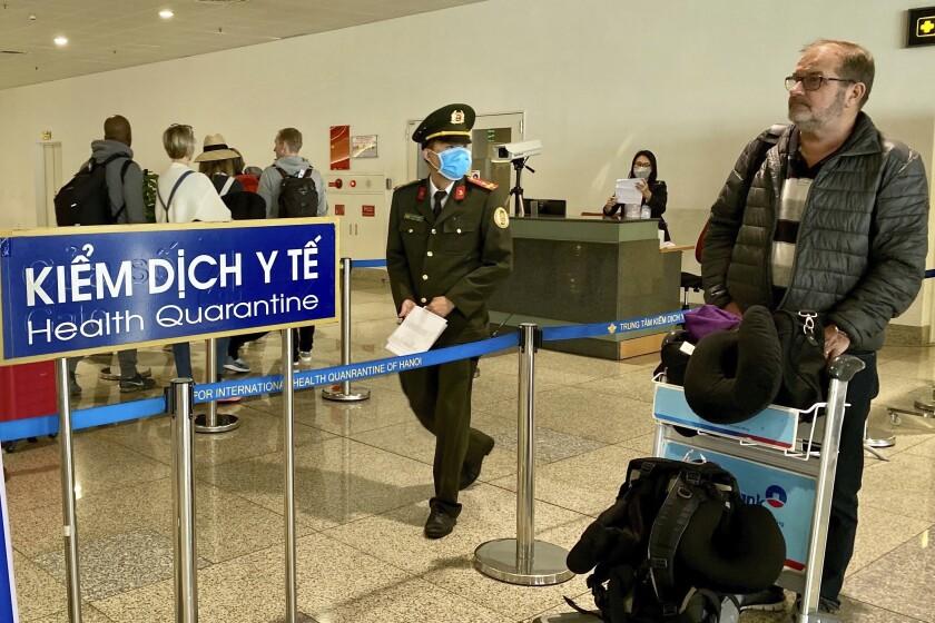 Virus Outbreak Vietnam British Pilot