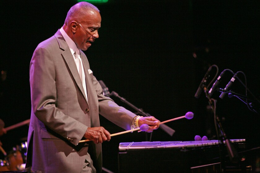 Jazz vibraphonist Bobby Hutcherson performing in San Francisco in 2013.