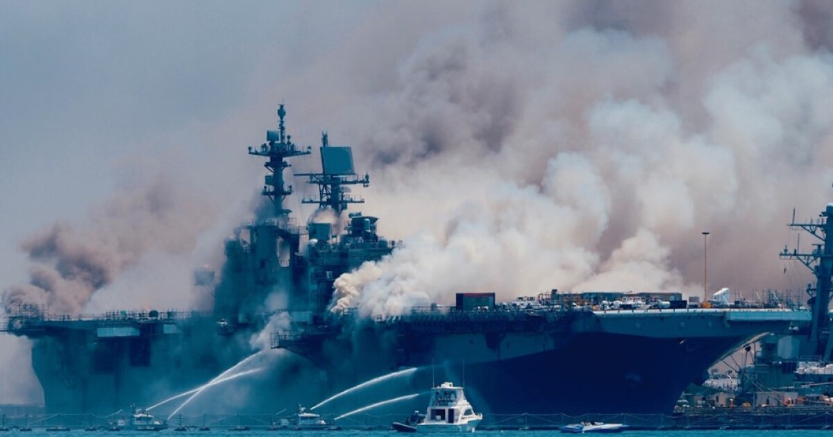 Bonhomme Richard, its fate uncertain, would be one of largest ships Navy has lost