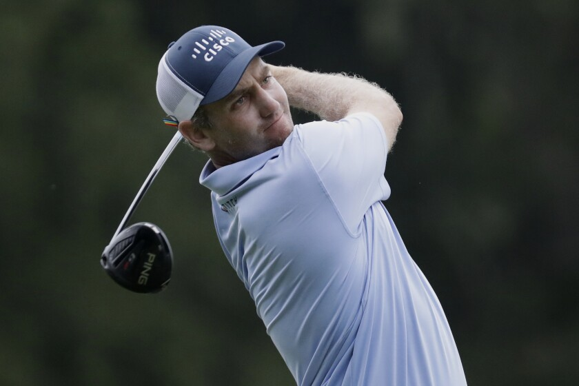Brendon Todd watches a tee shot during the second round of the FedEx St. Jude Invitational on July 31, 2020.