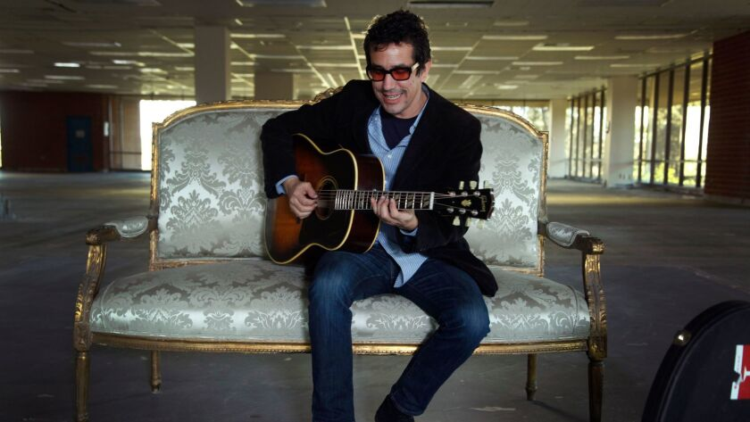 "San Diego, CA USA- | Singer / songwriter A.J. Croce sings his new release, ""A Momentary Lapse of Jud"