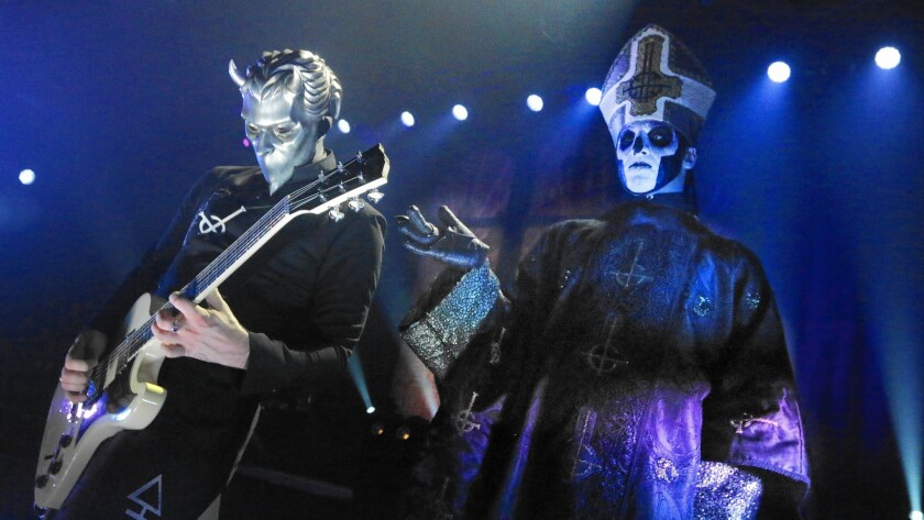 Review: For heavy metal's Ghost, it's always fright night