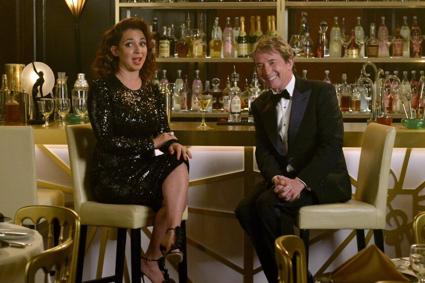 """This April 18, 2016 photo released by NBC shows Maya Rudolph, left, and Martin Short stars of the new variety show, """"Maya & Marty,"""" premiering Tuesday, May 31 at 10 p.m. on NBC. (Lisa Rose/NBC via AP)"""