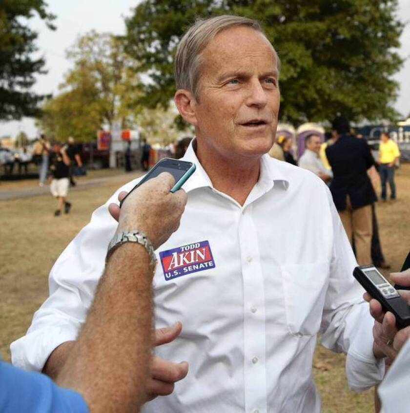 Rep. Todd Akin (R-Mo.) says he won't drop out of the race to unseat Democratic Sen. Claire McCaskill, despite pressure from the GOP.