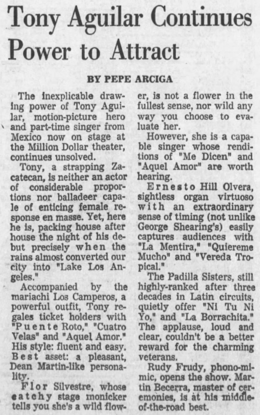 Antonio Aguilar 1966 Concert Review