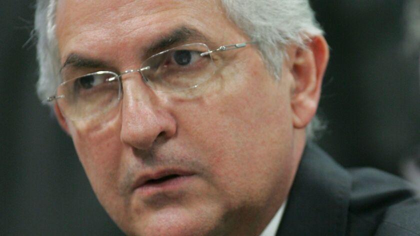 Then-Caracas Mayor Antonio Ledezma attends a meeting in Brasilia, Brazil on Oct. 27, 2009.
