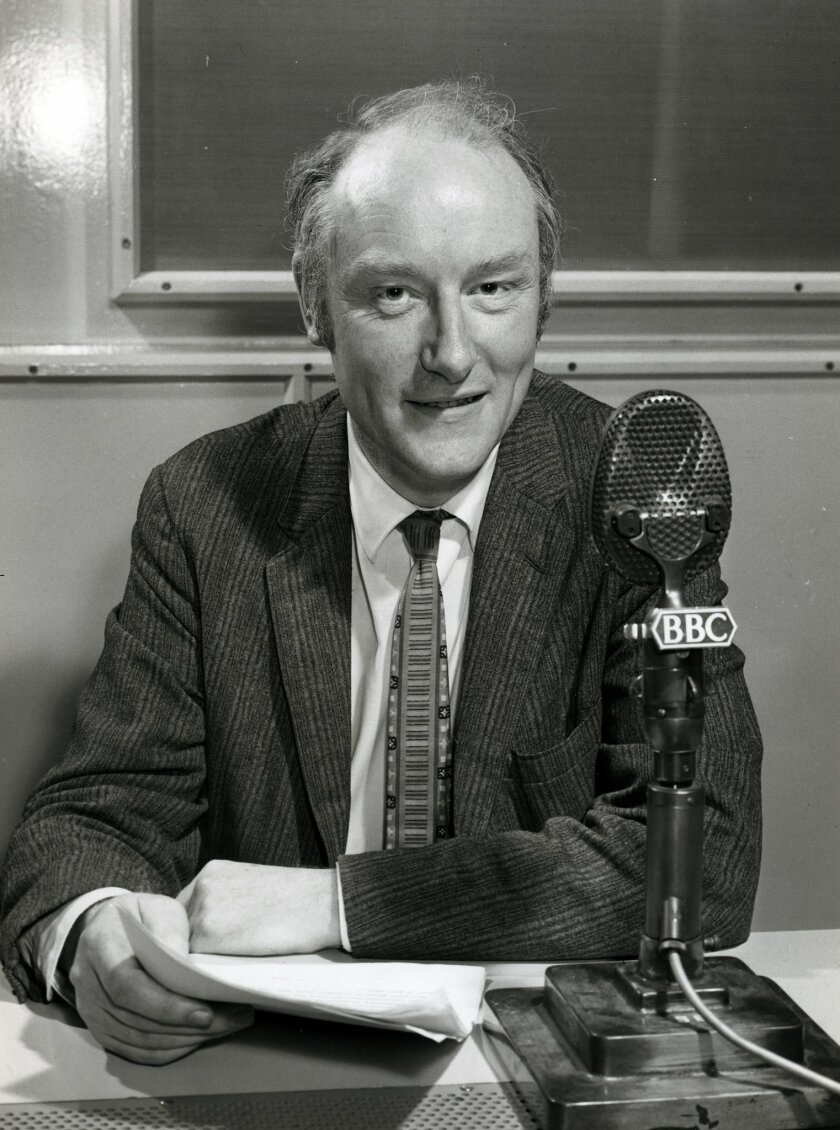 Francis Crick appearing on the BBC in 1960.