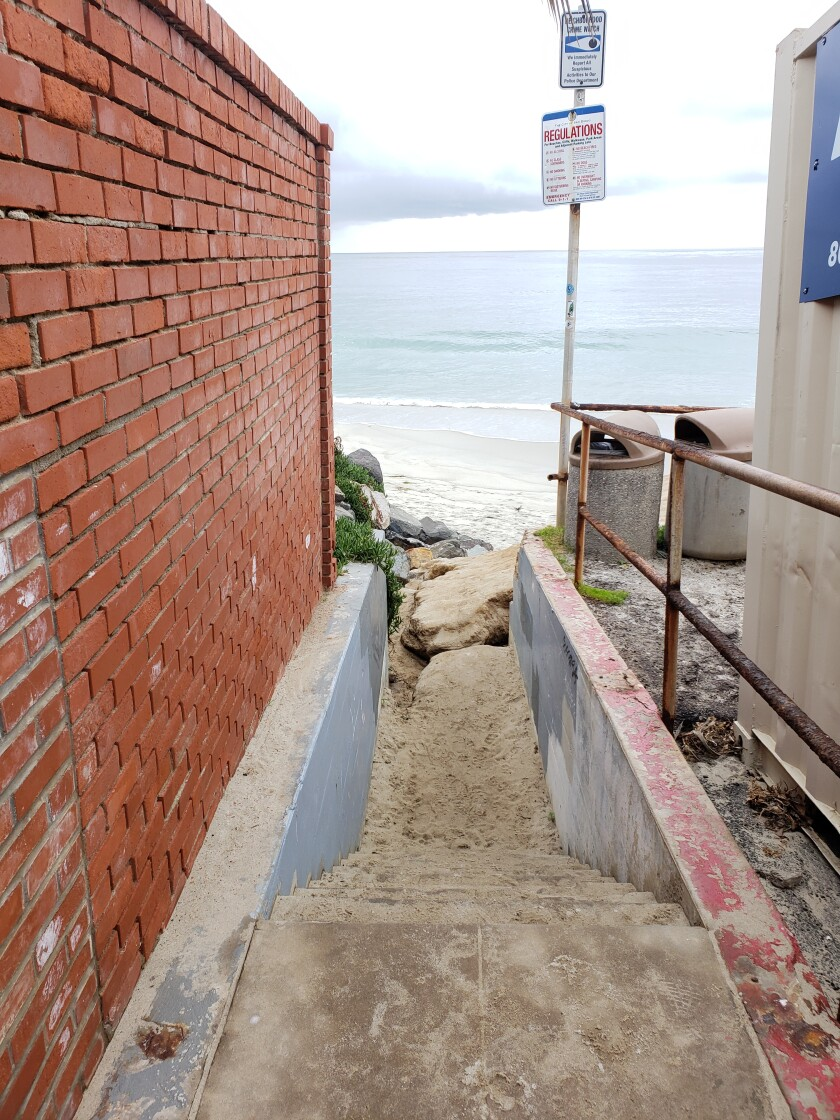The beach access at Sea Lane is one of the locations identified in the Coastal Overlooks Inventory and Photo Record, drafted by some members of the LJP&B board.